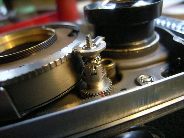 ローライフレックスF型の露出計連動ギヤサムネイル
