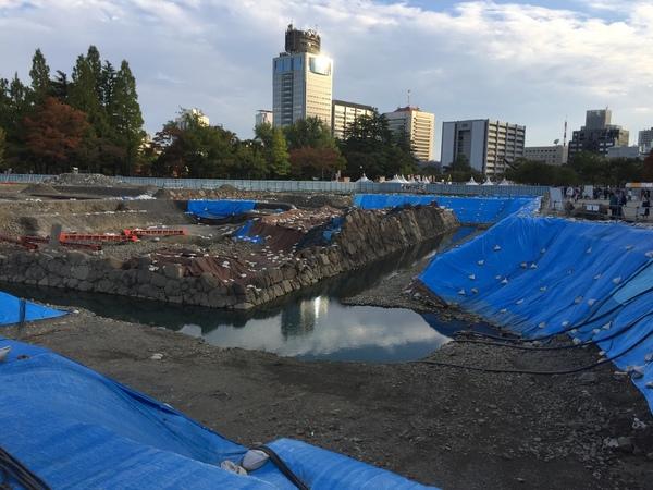 駿府城の天守台 日本一の大きさサムネイル